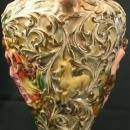 1950 Ginger Jar Gilded 677 Italy Capodimonte Ceramic Pastoral Scene 2-Han 15-198