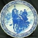 1960 Large Plate Blue White/Cream Royal Sphinx Blue White Delft Ceramic S 15-170