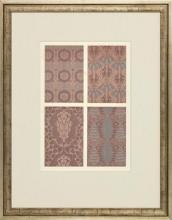 New Print Anonymous Reproduction Framed Patterns Decorative Panels Rectang WA-36