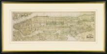 New Print Roger Sherman Reproduction Framed Maps Map of New York City Rec WA-393