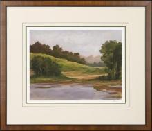 New Print Ethan Harper Reproduction Framed Landscapes Spring Light Rectan WA-231