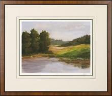 New Print Ethan Harper Reproduction Framed Landscapes Spring Light Rectan WA-234