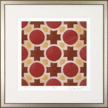 Large Framed Fine Art Print, Red Brilliant Symmetry, Judeen Young, Numbered
