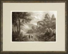 New Print Anonymous Reproduction Framed Landscapes Etched Landscapes Rect WA-104