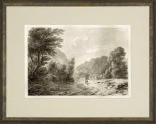 New Print Anonymous Reproduction Framed Landscapes Etched Landscapes Rect WA-101