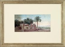 New Print Anonymous Reproduction Framed Seascapes Coastal Mediterranean Re WA-90