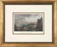 New Print T.C. Richard de Saint-Hon Reproduction Framed Travel Views of N WA-421