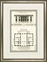 New Print Sieur de Neufforge Reproduction Framed Architecture DeNeufforge WA-409