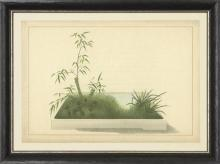 New Print Anonymous Reproduction Framed Trees Large Zen Gardens Rectangle WA-80