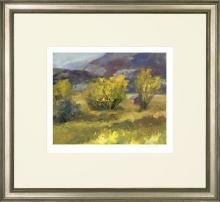 New Fine Art Giclee Print, Chun Wang Landscape, Mountain/Prairie, Yellow Bushes