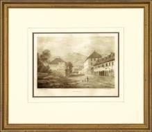 New Print Anonymous Reproduction Framed Landscapes French Countryside Vie WA-111