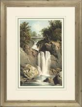 New Print Anonymous Reproduction Framed Waterfalls Rectangle WA-67