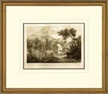 New Print Anonymous Reproduction Framed Landscapes French Countryside Vie WA-113