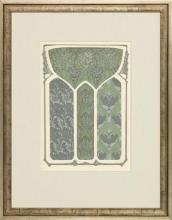 New Print Anonymous Reproduction Framed Patterns Decorative Panels Rectang WA-39