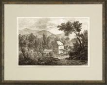 New Print Anonymous Reproduction Framed Landscapes Etched Landscapes Rect WA-106