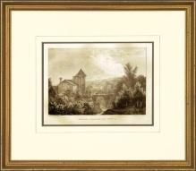 New Print Anonymous Reproduction Framed Landscapes French Countryside Vie WA-115