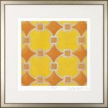 New Fine Art Giclee Print, Orange Circles, Judeen Young, Framed, Signed/Numbered