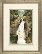 New Print Anonymous Reproduction Framed Waterfalls Rectangle WA-66