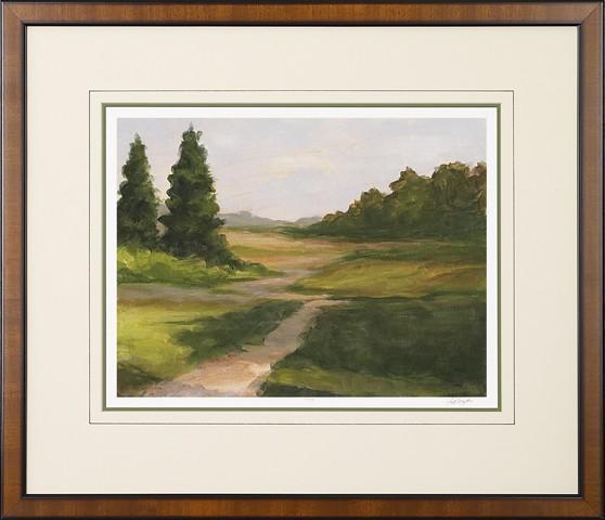 New Print Ethan Harper Reproduction Framed Landscapes Spring Light Rectan WA-235