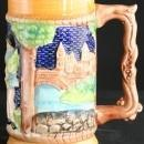 NICE Vintage German Souvenir Beer Stein Castle Lovers