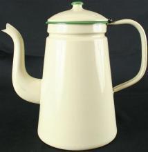 1920 Kettle Green White/Cream Kitchenware Enamel 5-522-0