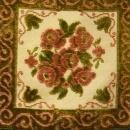 1950 Table Linen White/Cream Decorative Velvet/Velour Square 15A-2-0