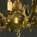Very Large Vintage French Rococo Chandelier, Metal/Brass, Pierced Design, 8 Arms