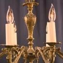 Vintage French Rococo Chandelier, 8-Arm, Ornate, Grape Finial, Medium Size