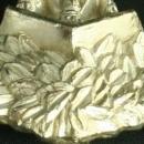 1950 Vintage Religious Statue Scherpenheuvel Virgin Mary in Tree Marble Metal