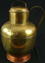 LARGE Vintage French Brass Pitcher Milk Jug Kitchenware