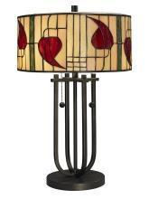 New Dale Tiffany Table Lamp Dark Bronze Metal Pull Chain UL-Listed Macin DY-1207