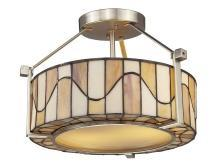 New Dale Tiffany Ceiling Fixture Satin Nickel Metal On/Off UL-Listed San DY-1251