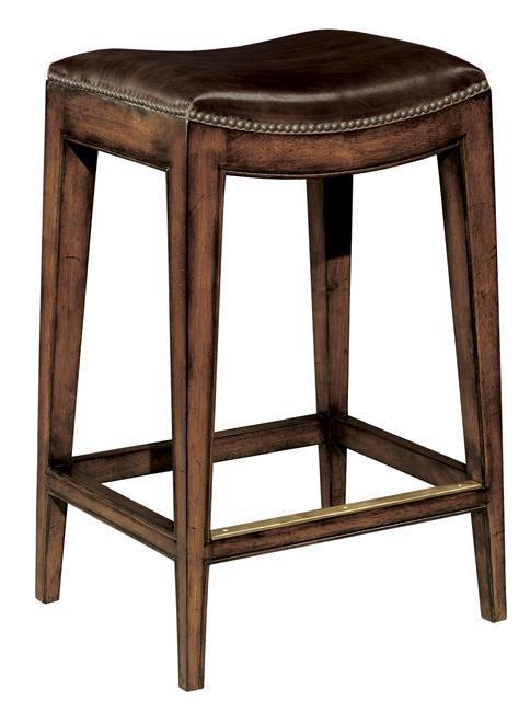 New Woodbridge Bar Stool Brown Leather Saddle Seat  : 471895190fullsize from www.goantiques.com size 484 x 660 jpeg 34kB