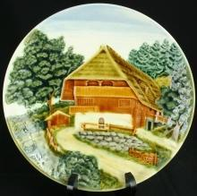 1930 Plate Majolica Ceramic Hand-Painted Painted 11-456-0