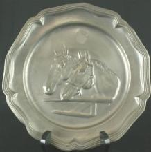 1950 Plate Decorative Pewter 12-392-0