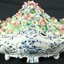 1950 Large Bowl Capodimonte Ceramic 5-332-0