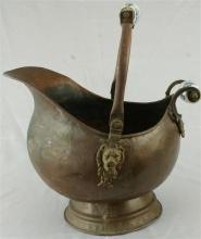 1900 Coal Box Copper Metalware Metal Ceramic 12-268-0