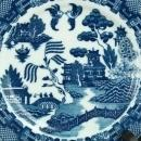 1970 Plate Blue Willow Ceramic Transferware 11-22-0