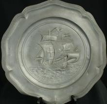 1950 Plate Sailing Boats Decorative Pewter 11-191-0