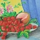 1950 Fruit Art Wood Signed 11-416-0