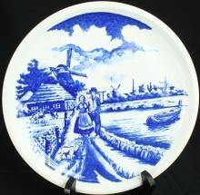 NICE Vintage Transferware Blue Delft Plate Dutch Couple