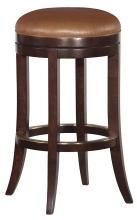 New Bar Stool, Pub Style, Upholstered Swivel Seat, Umber, Brown