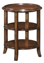 New Woodbridge Tea Table, Pretty High Tea Round 3-Tier Table, Wood, Cherry