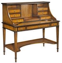 New Directoire Table Desk, Solid Hardwood, Cherry & Eucalyptus Veneers