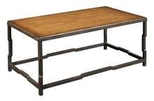 New Cocktail Table  Brown/Beige/Tan Anigre Rectangle Kam WB-589