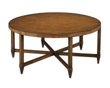 New Cocktail Table  Brown/Beige/Tan Eucalyptus Round Greenwic WB-620
