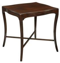 New Woodbridge Addison Side Table, Square Mid-Century Modern, Black Mahogany