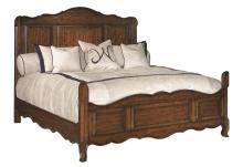 New Classic French Look California King Solid Wood Bed, Cherry Veneers