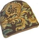 Chair Cushion Aubusson Floral 18x20 Gold New CW-19