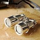 Binoculars Brass Leather New With Storage Box OM-320